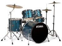 Tama Imperialstar 5-Piece Drum Set with Cymbals Hairline Blue (IP52KCHLB)